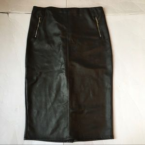 Mossimo faux leather pencil skirt new